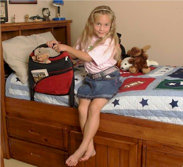 Portable Children's Bed Rail With Organizer Pouch ST5050